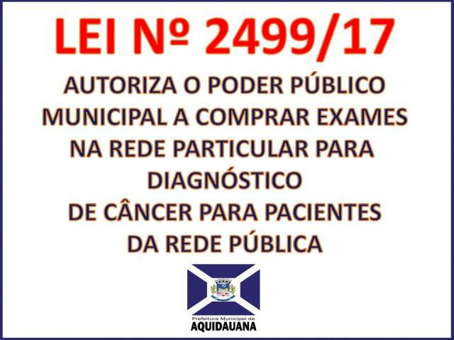 Lei garante exame gratuito para diagnóstico de câncer