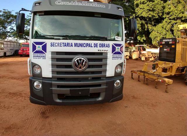 Com recursos próprios, Prefeitura de Aquidauana compra o terceiro caminhão este ano