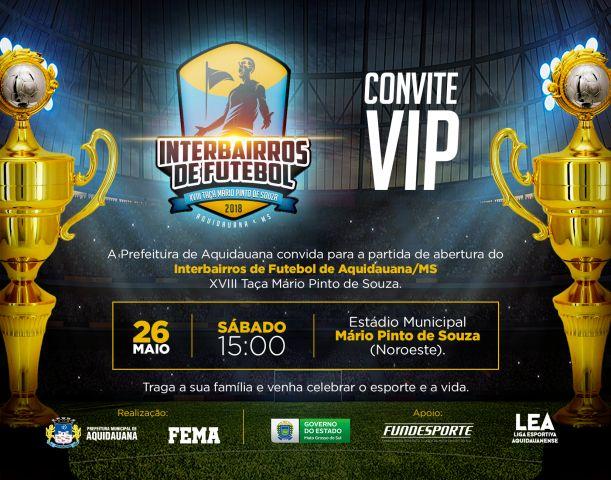 Campeonato Interbairros de Aquidauana começa no próximo sábado, 26