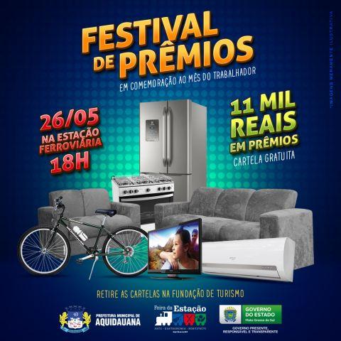 Festival de Prêmios e shows gratuitos agitarão o final de semana em Aquidauana