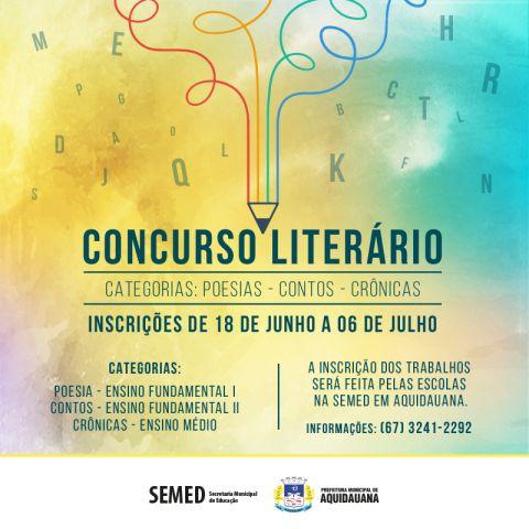 Inscrições abertas para o 2º Concurso Literário em comemoração aos 126 anos de Aquidauana